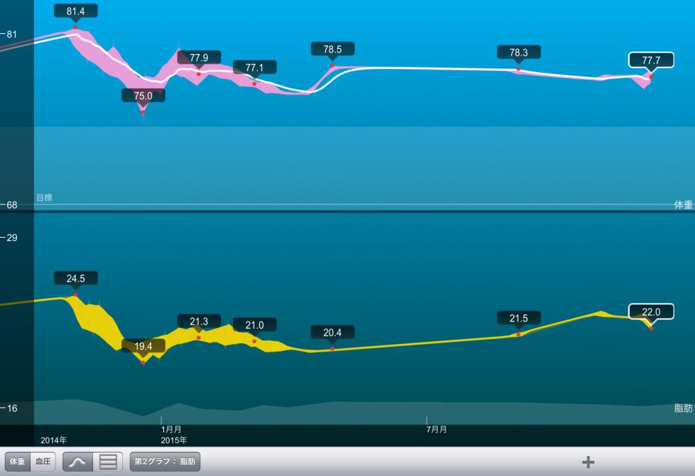 簡単!記録ダイエット。一日二食で1年後の結果発表。