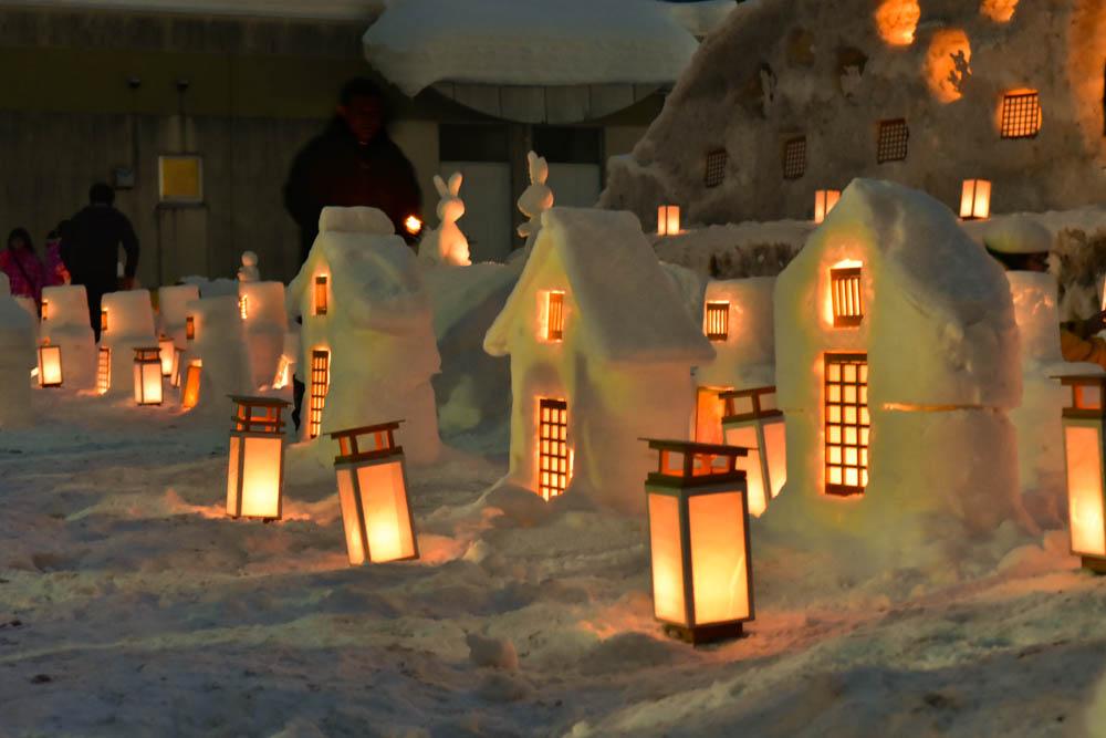 町民総出で「お・も・て・な・し」西和賀の雪あかり2016